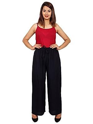 Jaipuri Fashionista Formal Rayon Palazzo Plain Pants/Trousers for Women (Free Size)
