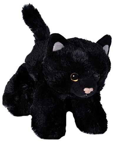 Wild Republic - Hug'ems, peluche gato, 18 cm, negro (18089)