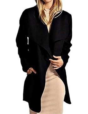 AILIENT Duffle Coat Mujer Hipster Manga Larga Elegante Abrigos Sencillos Top Vintage Coat Clasicos Outwear Color...