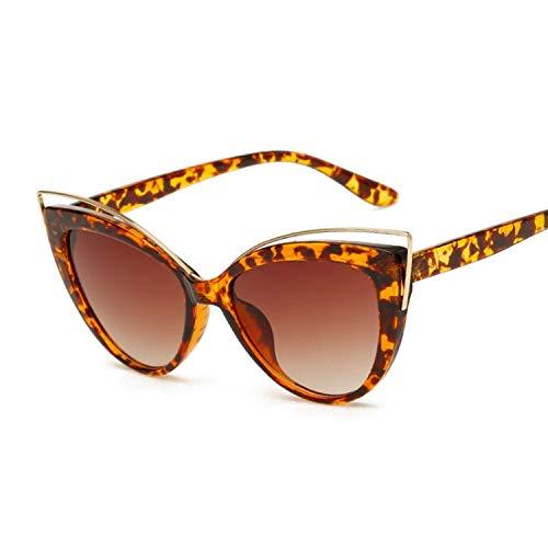 YUHANGH Cat Eye Sonnenbrille Frauen Vintage Mode Schmetterling Spiegel Sonnenbrille Weibliche Retro Sommer Stil Metall Brillen Luxus