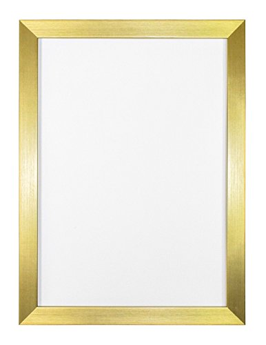 ilderrahmen /Foto-/Posterrahmen -mit einer Rückwand aus MDF - aus bruchsicherem Plexiglas aus Styrol für hohe Klarheit - Gold- 6 x 4 zoll ()