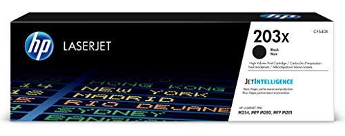 HP 203X (CF540X) Original Toner (mit hoher Reichweite für HP LaserJet Pro M254, HP LaserJet Pro M280, HP LaserJet Pro M281) schwarz