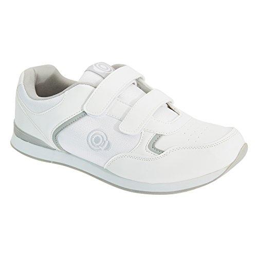 Dek Drive Herren Trainer Style Bowling Schuhe (44.5 EU) (Weiß/Grau)