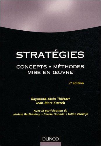 Stratégies : Concepts, méthodes, mise en oeuvre