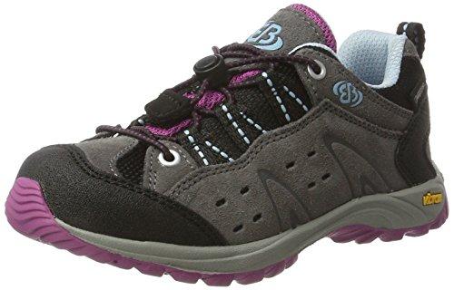 Bruetting  Mount Bona Low Kids, Chaussures de randonnée filles Gris (Grau/lila/blau)
