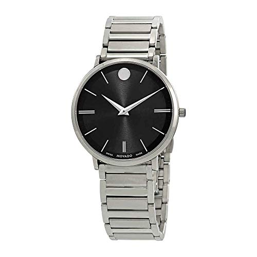 Movado Men's Ultra Slim 40mm Steel Bracelet & Case Swiss Quartz Watch 0607167
