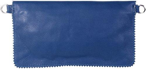 Cameron Clutch/ Abendtasche Echt-Leder 23,5x13 cm (B x H) Royalblau