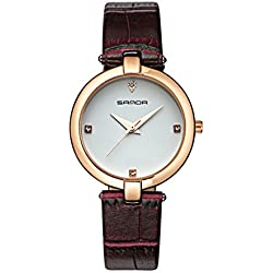 Fashion ladies quartz watch/ strap waterproof watch/Simple casual watches-F