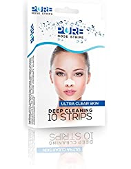PURE Deep Cleansing Face & Nose Pore Strips (contains 10 strips)