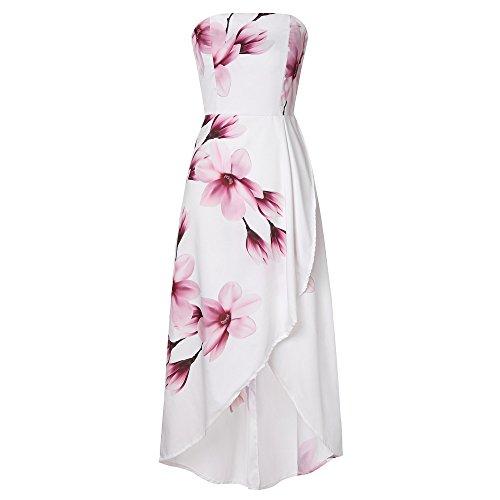 QUINTRA Womens Off The Shoulder Boho Dress Lady Beach Summer Sundrss Maxi Dress