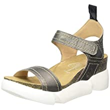 Fly London Women's SENA580FLY Open Toe Sandals, Grey (Pewter 002), 7 (40 EU)