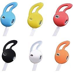 Funda para auriculares Teepao, de Apple (impermeable, suave, silicona, para auriculares, 5 pares, 10 unidades) transparente