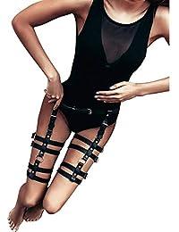 Homelex Sexy Punk Leder Taille Bein Caged Harness Gothic Strumpfband Für Damen