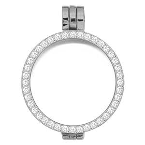 MY iMenso Medaillon Silber mit weißen Zirkonia 24 mm 24-0070
