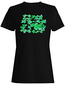 Verde, flechas, patrón, Plano de fondo camiseta de las mujeres g934f