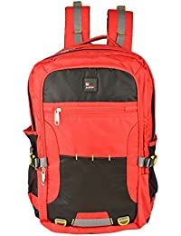 Friend Agencies Nylon 20 Liters Red & Grey School Backpack (FA018)
