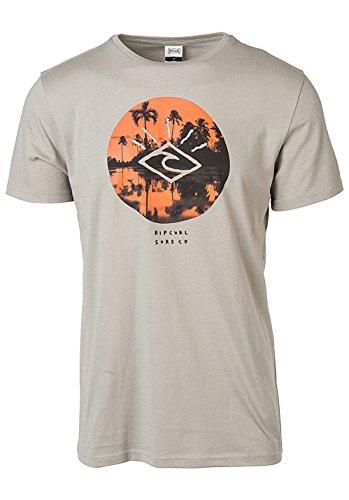Rip Curl t-shirt manica corta da uomo Tropic Sunset Flint Gray