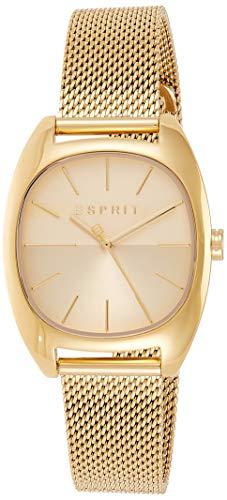 Esprit Damen Analog Quarz Uhr mit Edelstahl Armband ES1L038M0095