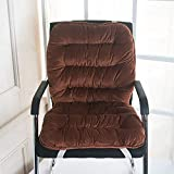 Cuscinetto della Sedia, Ammortizzatore Cuscino per Poltrona Soft Lounge, Cravatta Cuscino Antiscivolo reclinabile Tatami Patio Pad per sedie Imbottiture per Ufficio Office -Brown 45x90cm (18x35inch)