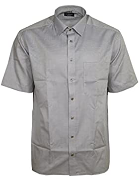 Eterna Herren Hemd Baumwoll Hemd Baumwollhemd Business Herrenhemd Kurzarm Comfort Fit Beige Blau
