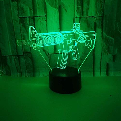 3D waffe Nachtlampe 7 Farben ändern Touch Control LED Schreibtisch Tisch Nachtlicht mit bunten USB Powered für Kinder Kinder Familie Ferienhaus Dekoration Valentinstag Geschenk