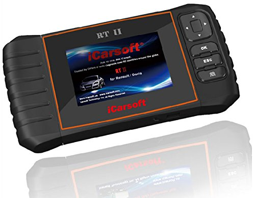 Preisvergleich Produktbild iCarsoft RT II i907 V2 OBD2 Diagnosegerät für Renault und Dacia, mit Service Reset Funktion, ETB
