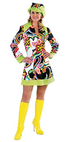Kostüm Minikleid Mini Hippie Schlager Schlagerparty Unisex Groovy L 40 42 Dress