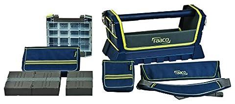 raaco Werkzeugtasche ToolTaco Premium L, blau, 141604 (Er 20 Werkzeughalter)