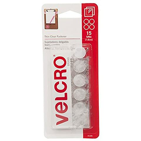 Clear VELCRO(R) brand STICKY BACK(R) Coins 5/8