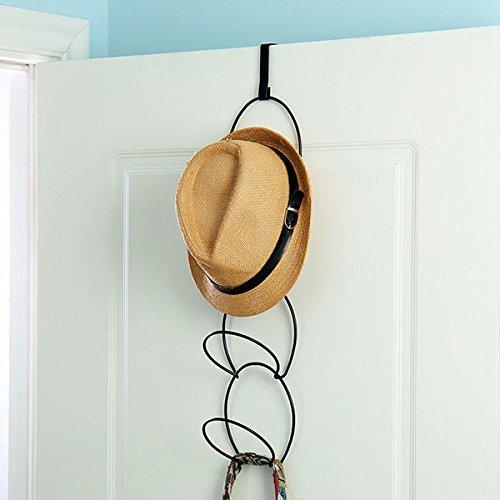 bureze Hüte Kleidung Interlink Krawattenhalter Draht stapelbar Aufbewahrung Rack Küche Organizer Tür Wand Haken (Draht-wand Rack)