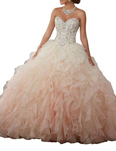 Engerla Damen Kleid Gr. 30, champagnerfarben