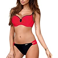 LILICAT!!! Sling Correa Cruzada Traje de baño Bikini Mujer Bandeau Bandage Bikini Set Push-Up Traje de baño brasileño Ropa de Playa Traje de baño Rojo, Rojo Vino, Azul, Rosa, Azul Claro