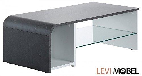 Generic COUCHTISCH Tisch Wohnzimmer WOHNWAND SHIEFER MATT WEIß 832725