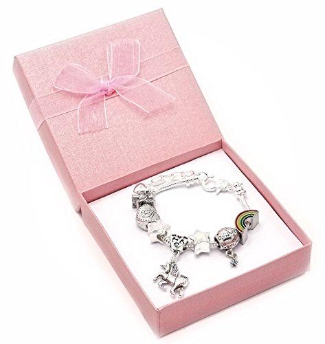I-Believe-In-Einhrner-Kinder-Charm-Armband-mit-Geschenk-Box-Mdchen-Schmuck
