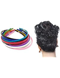 Foreignholics Women's Neon Daily Use Plane Plastic Hair Bands - Set of 12, Multicolour