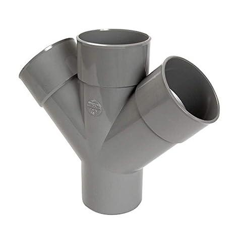culotte double pvc - mâle / femelle - 45 degrés - parallèle - diamètre 125 mm - rx14