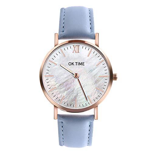 Armbanduhr Männer Edelstahl Grand Atlantic Line White Sand - Herren Uhr Lederarmband (Braun), Silberne Herren Armbanduhr, weißes Ziffernblatt 3473Mehrfarbig