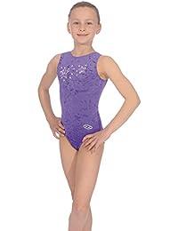 The Zone Z103STE justaucorps de gymnastique sans manches en velours lisse,