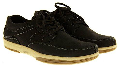 Mens cuir YACHTSMAN par marin Gents Chaussures Bateau Chaussures de Pont d'été temporaires Noir - noir