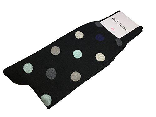 PAUL SMITH Mens Cotton Socks Black Grey Beige Polka Dots One Size