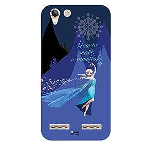 Hamee Disney Princess Frozen Official Licensed Designer Cover Hard Back Case for Lenovo A6000 / A6000 Plus (Elsa / How To)