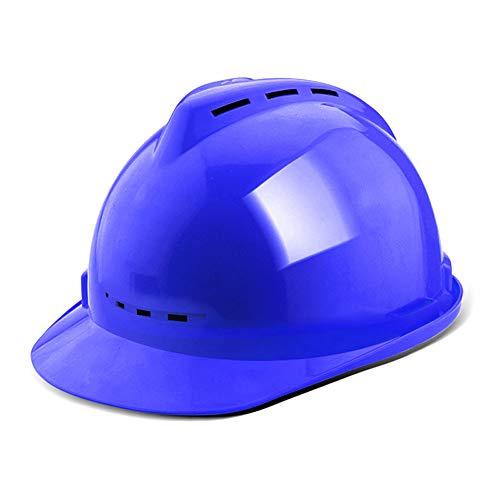 zm JH& Casco Regolabile con ventole fresche, ANSI-Compliant, dispositivi di Protezione Individuale per edilizia, Home Improvement e progetti Fai da Te/PP (5 Colori) (Colore : Blu)