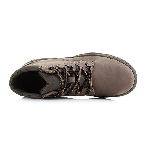Skechers Denton Romolo Hommes Bottes en cuir / Chaussures Taupe