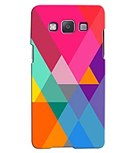 Citydreamz Multicolor Random Pattern Hard Polycarbonate Designer Back Case Cover For Samsung Galaxy E5