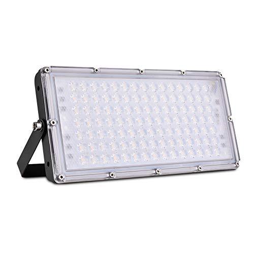 100W LED Foco Exterior de alto brillo, LED Projector 10000LM Impermeable IP65...