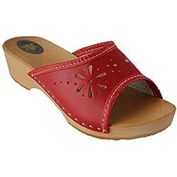 Janex - zapatos de tacón Mujer , color Rojo, talla 40