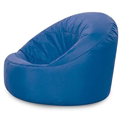 Bean Bag Bazaar Silla Tipo Puf Infantil Clásico – 58cm x 42cm, Puf Grande Infantil para Interiores o Exteriores (Azul, 1)