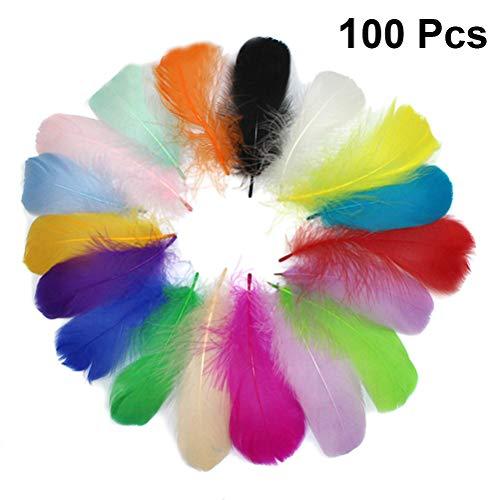 Healifty 100 stücke DIY Handwerk Federn für Traumfänger Ohrringe Handwerk Hochzeit Hut Haarschmuck Home Party Dekorationen (mischfarben / 8-12 cm)