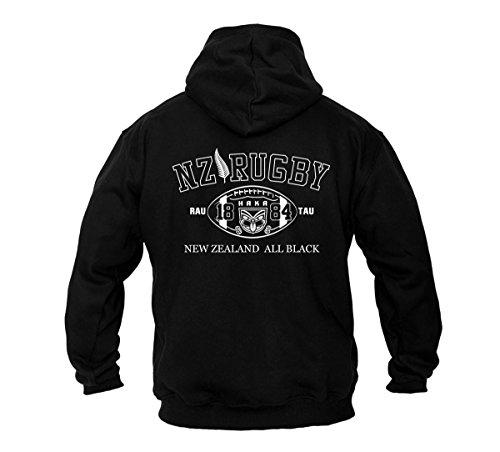 Dirty Ray Rugby New Zealand All Black Herren Kapuzenpullover B2 (XXL)