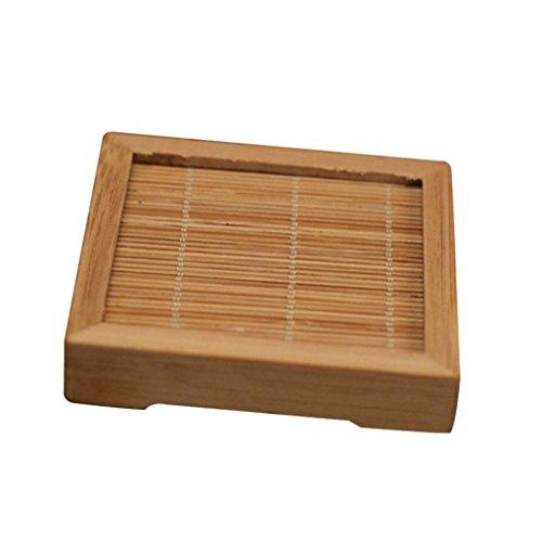 Homyl Tapis de Service Carré en Bambou Table Cuisine Décor - S